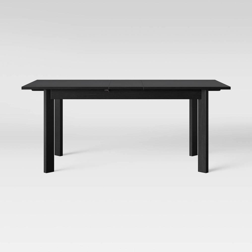 Bombelli Modern Dining Table with Extension Leaf Black - Project 62