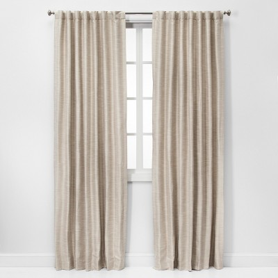 Faux Silk Room Darkening Window Curtain Panel - Threshold™