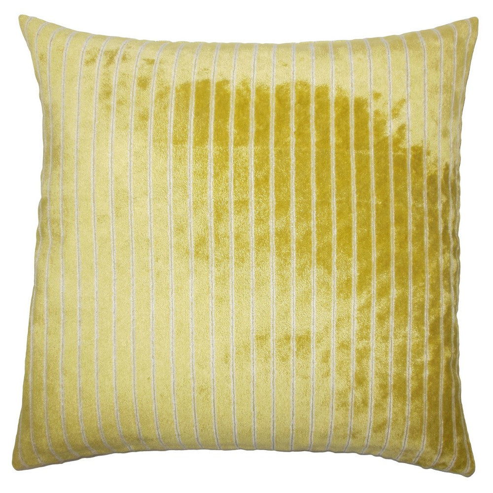 Yellow Buffalo Square Throw Pillow (20