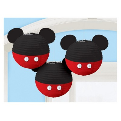 Birthday Express Mickey Mouse Forever Hanging Paper Lanterns - 3 Pack