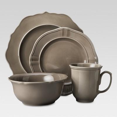 Wellsbridge 16pc Dinnerware Set Mocha - Threshold™