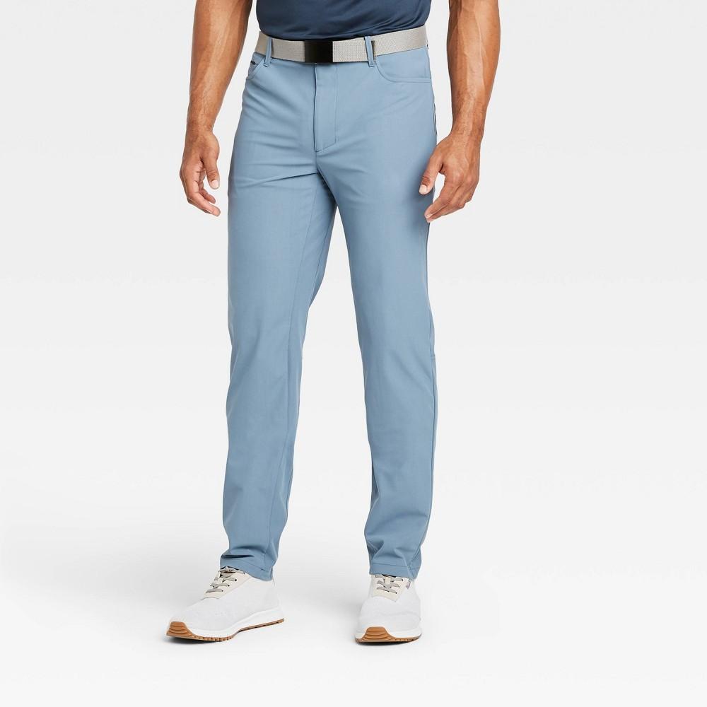 Men 39 S Golf Pants All In Motion 8482 Blue Gray 34x32