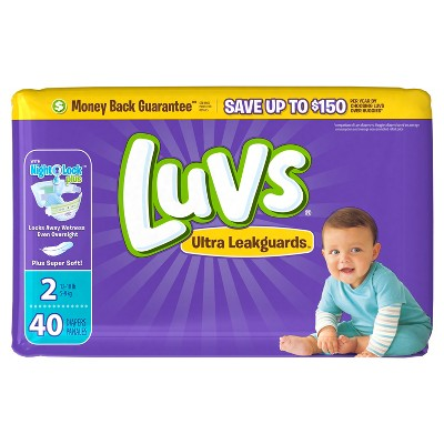 Luvs Disposable Diapers Jumbo Pack - Size 2 (40ct)