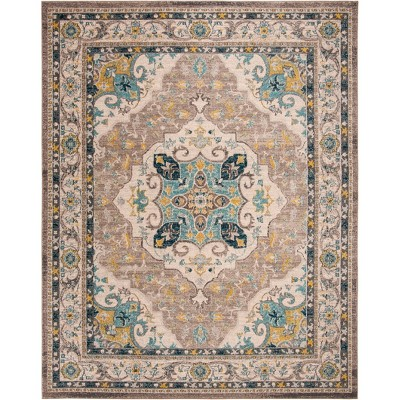 8'X10' Medallion Loomed Area Rug Ivory/Gray - Safavieh