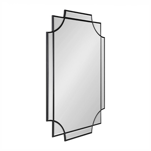 """24"""" x 36"""" Minuette Scallop Wall Mirror Black - Kate & Laurel All Things Decor - image 1 of 4"""