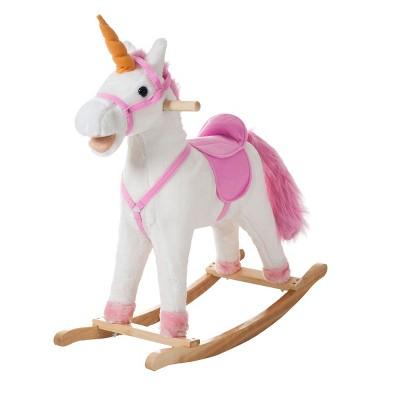 Toy Time Kids' Rocking Unicorn Ride-On Horse Toy - Pink/White
