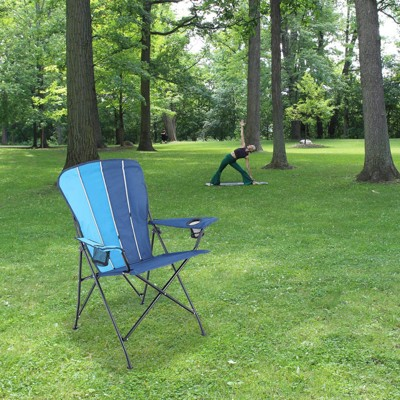 Foldable Camping Arm Chair with Metal Frame - Captiva Designs