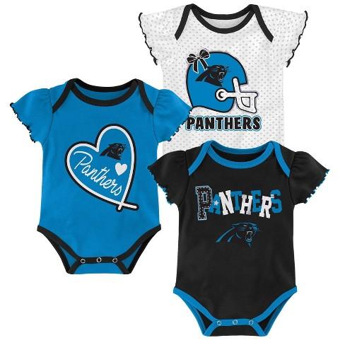 new concept 5880c 6c24d NFL Carolina Panthers Baby Girls' Newest Fan 3pk Bodysuit Set