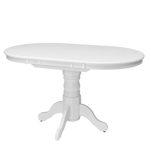 Dillon Extendable Oval Pedestal Dining Table With 12in Erfly Leaf Corliving