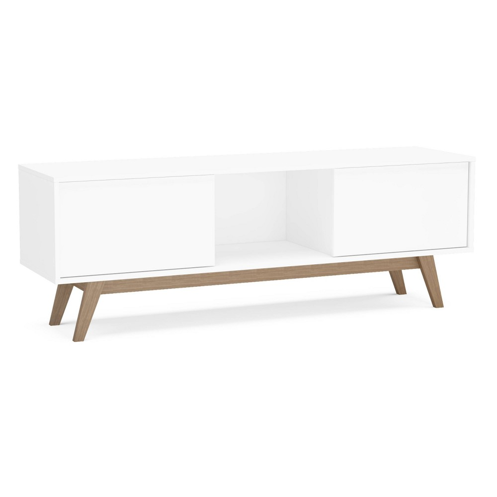 "Image of ""60"""" Burlington TV Stand White - Chique"""