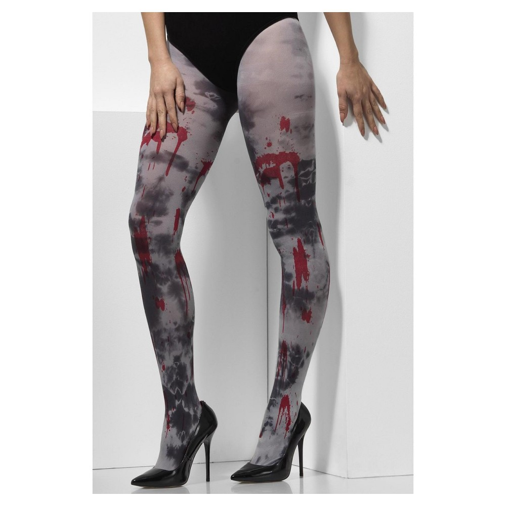 Adult Smiffy's Zombie Costume Tights, Women's, Multi-Colored