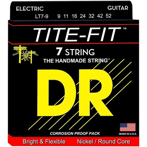 DR Strings Tite-Fit LT7-9 Lite 7-String Nickel Plated Electric Guitar Strings - image 1 of 2