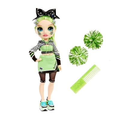 Rainbow HighCheer Jade Hunter - GreenFashion Dollwith Cheerleader Outfit andDoll Accessories