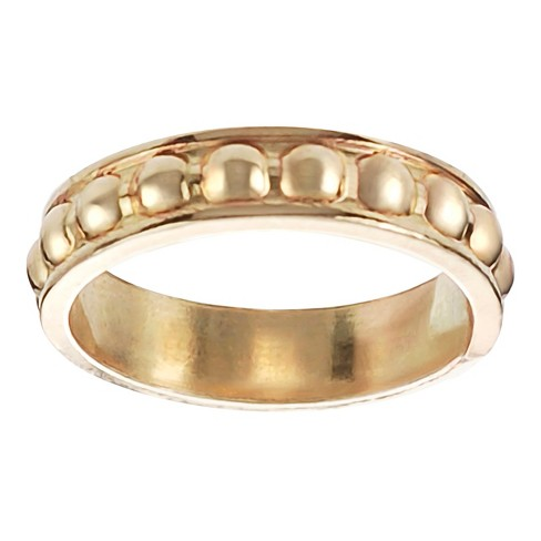 Women's Journee Collection Handcrafted Textured Band in Sterling Silver - Gold - image 1 of 2