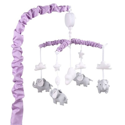 The Peanutshell Elephant Musical Mobile - Purple