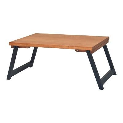 "21"" x 10"" Wood Live Edge Bed Tray Natural - Hopper Studio"