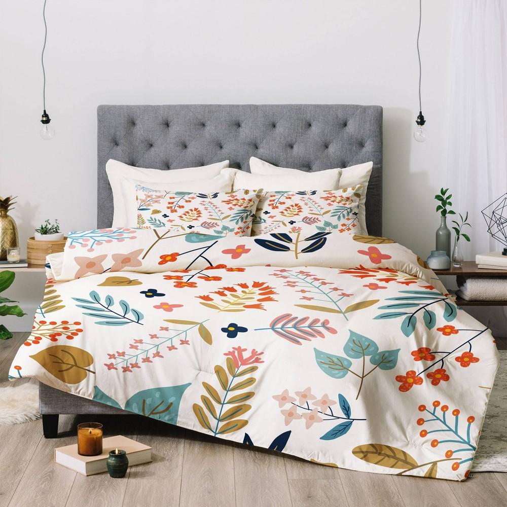 Twin Extra Long 83 Oranges Botanical Harmony Comforter Set Deny Designs
