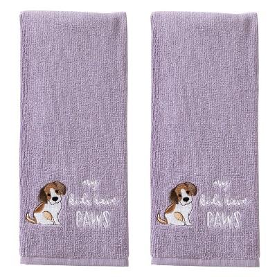 2pc My Kids Hand Towel Set Purple - SKL Home