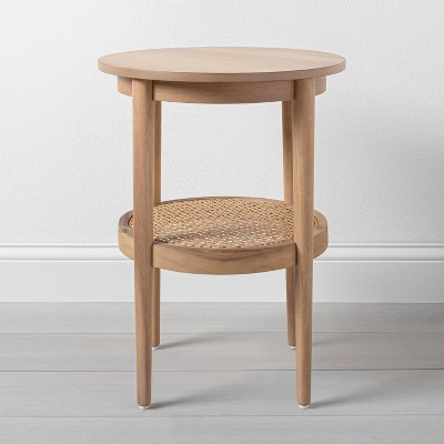 Wood & Cane Round Accent Table - Hearth & Hand™ with Magnolia
