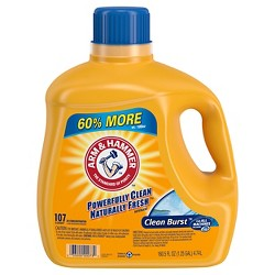 Arm & Hammer Clean Burst Liquid Laundry Detergent 107 Loads (160.5 oz)