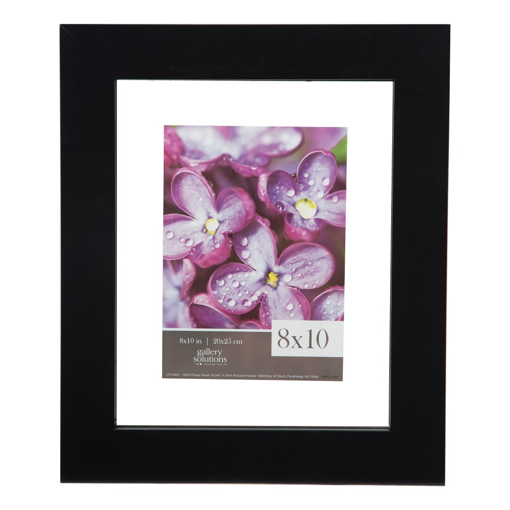 Image of Single Image 8X10 Float To 5X7 Wide Black Frame - Gallery Solutions
