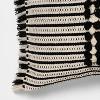 Bed Lumbar Global Fringe Decorative Pillow Black/Cream - Opalhouse™ - image 3 of 3