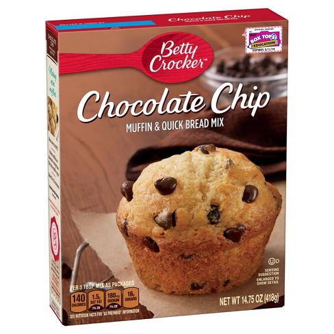 Betty Crocker Chocolate Chip Muffin and Quick Bread Mix - 16.4oz - image 1 of 3