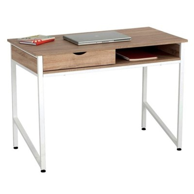 Steel Writing Desk in Brown- Safco