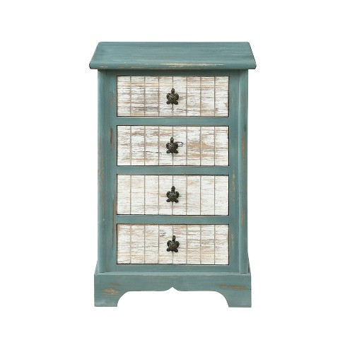 Deep Sea Four Drawer Accent Chest Teal - Christopher Knight Home - image 1 of 4