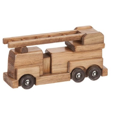 Remley Kids Wooden Toy Firetruck with Ladders