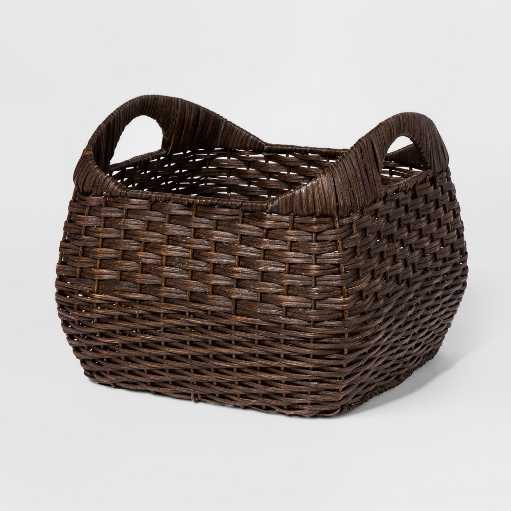 Small Basket with Curved Handles Brown 11