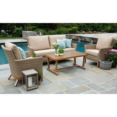 Cottonwood 4pc Sunbrella Deep Seating Set Tan - Canopy Home and Garden