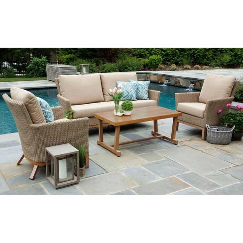 Cottonwood 4pc Sunbrella Deep Seating Set Tan - Canopy Home and Garden - image 1 of 4