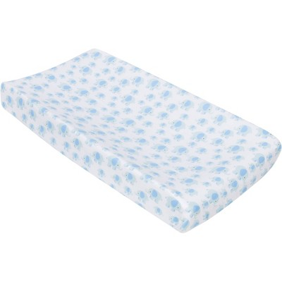 MiracleWare Muslin Changing Pad Cover Elephant Blue