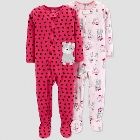 87ca4377de76 Baby Girls  Fleece Heart Dogs Pajama Set - Just One You® Made By ...