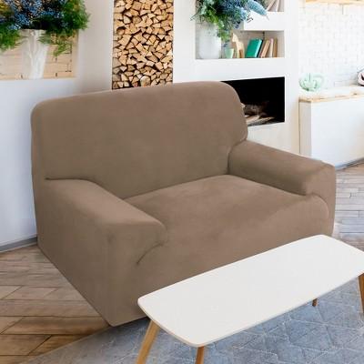 1 Pc Polyester Spandex Fabric Velvet Plush Stretch Sofa Slipcovers - PiccoCasa