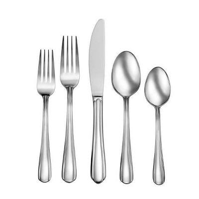 42pc Stainless Steel Eastlyn Silverware Set - Studio Cuisine