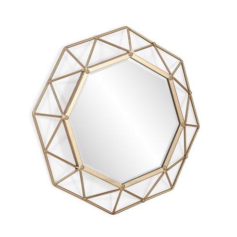 "Aiden Lane 24.75""x24.75"" Vilda Decorative Wall Mirror Gold - image 1 of 6"
