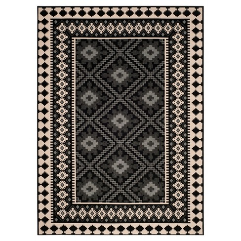 Nadir Indoor Outdoor Area Rug Black