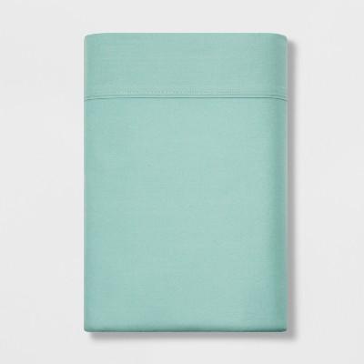 Twin 300 Thread Count Ultra Soft Flat Sheet Mint Ash - Threshold™