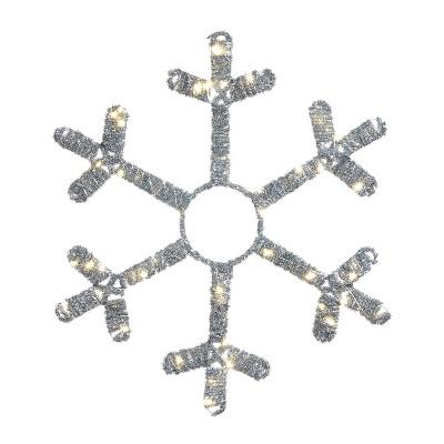 """Mr. Christmas LED Lit Tinsel Snowflake Christmas Decoration 18"""""""