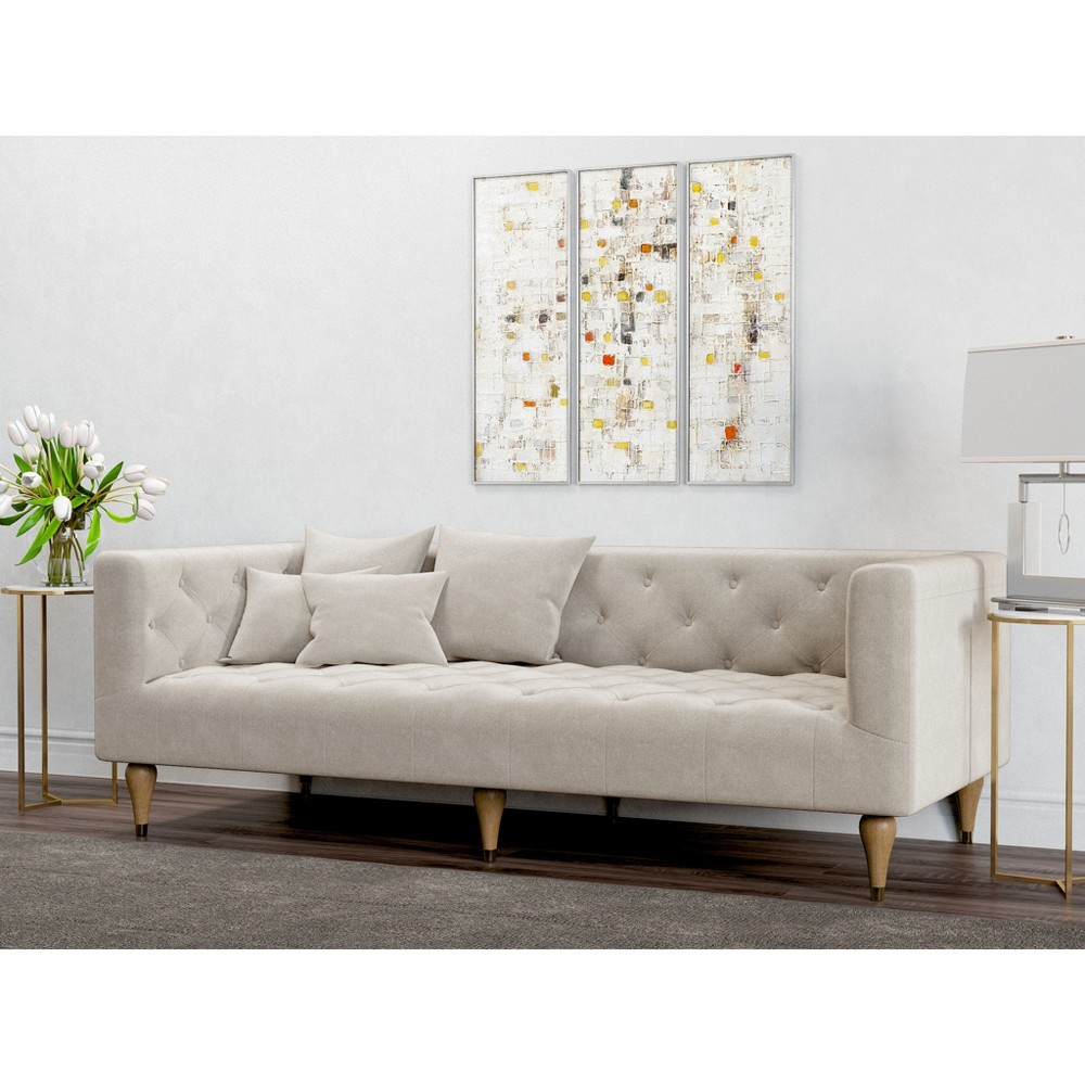 Image of Alan Modern Tufted Sofa Oatmeal - AF Lifestlye