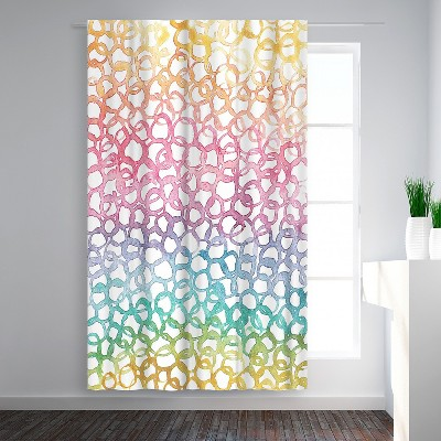 Americanflat Rainbow Abstract 8 by Victoria Nelson Blackout Rod Pocket Single Curtain Panel 50x84