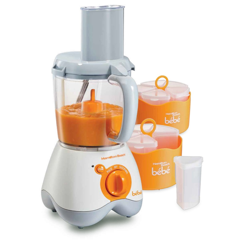 Hamilton Beach All in One Baby Food Maker – 36533, White & Orange 50060181