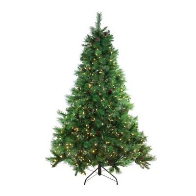 Northlight 6.5' Prelit Artificial Christmas Tree Full Denali Mixed Pine - Multi-Color LED Lights