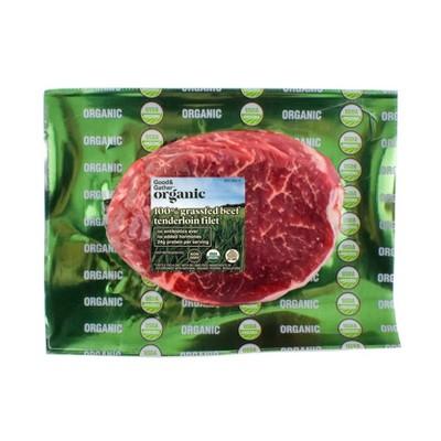 Organic Grassfed Tenderloin Filet - 0.5-0.625 lbs. - price per lb - Good & Gather™