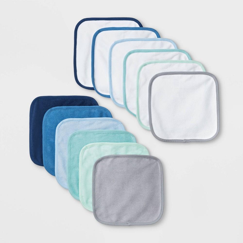 Image of Baby Boys' 12pk Washcloth Set - Cloud Island Blue One Size