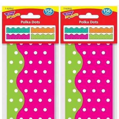 2pk 156' per pack Polka Dots Terrific Trimmers - TREND