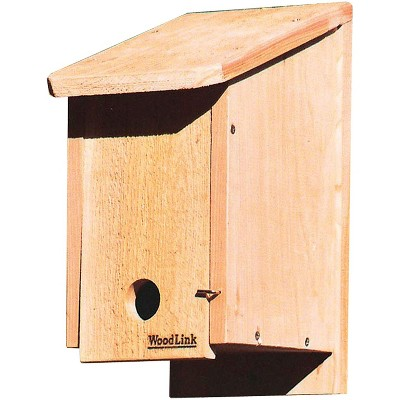 Woodlink Kiln-Dried Cedar Wood Birdhouse Winter Roosting and Shelter Box with Included Screws, Brown
