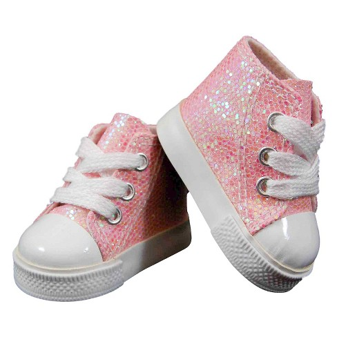 The Queen's Treasures® 18 Inch Doll Clothes Accessory, Pink Sparkle Sneaker Plus Authentic Shoe Box - image 1 of 4